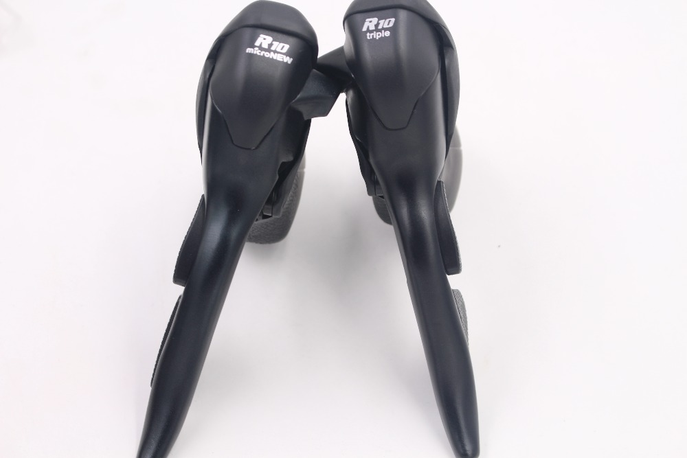 Micronew Double Contrôle Leviers Vélo De Route manettes de vitesse Triple 10 vitesses pour Shimano 105 5700 Tiagra 4600