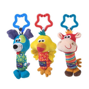 Image 3 - Kids Baby Lovely Soft Animal Handbell Rattles Handle Stroller Development Toy Baby Rattles Bed Bell Stroller Toys