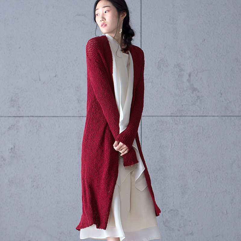 Spring Autumn Knitted Vintage Sweater Cardigan Women Winter Elegant Slim Long Sweaters Coat Cardigans Femininos E Casacos