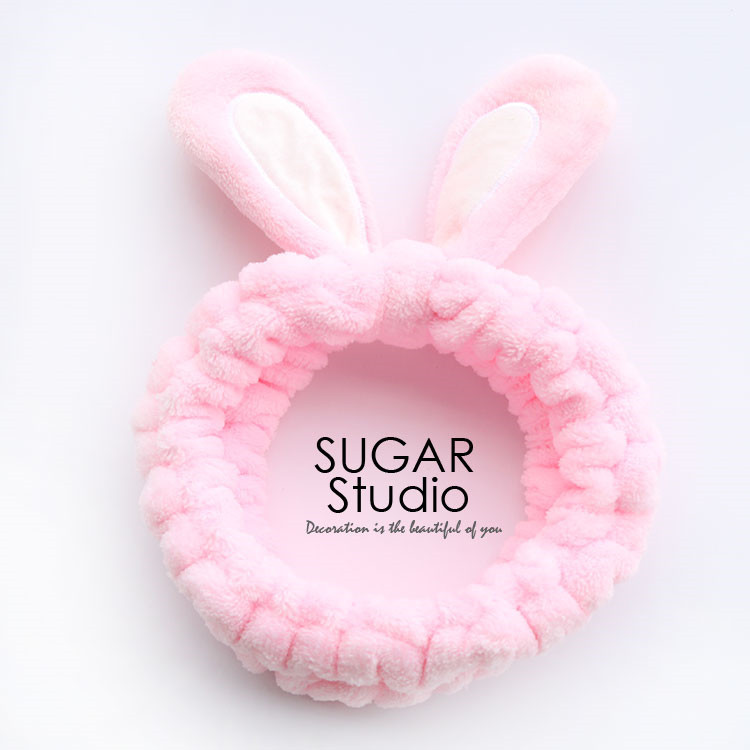 Cute Soft Rabbit Ears Hair Band Velvet Cartoon Wide Brimmed Headband Ornaments For Girls
