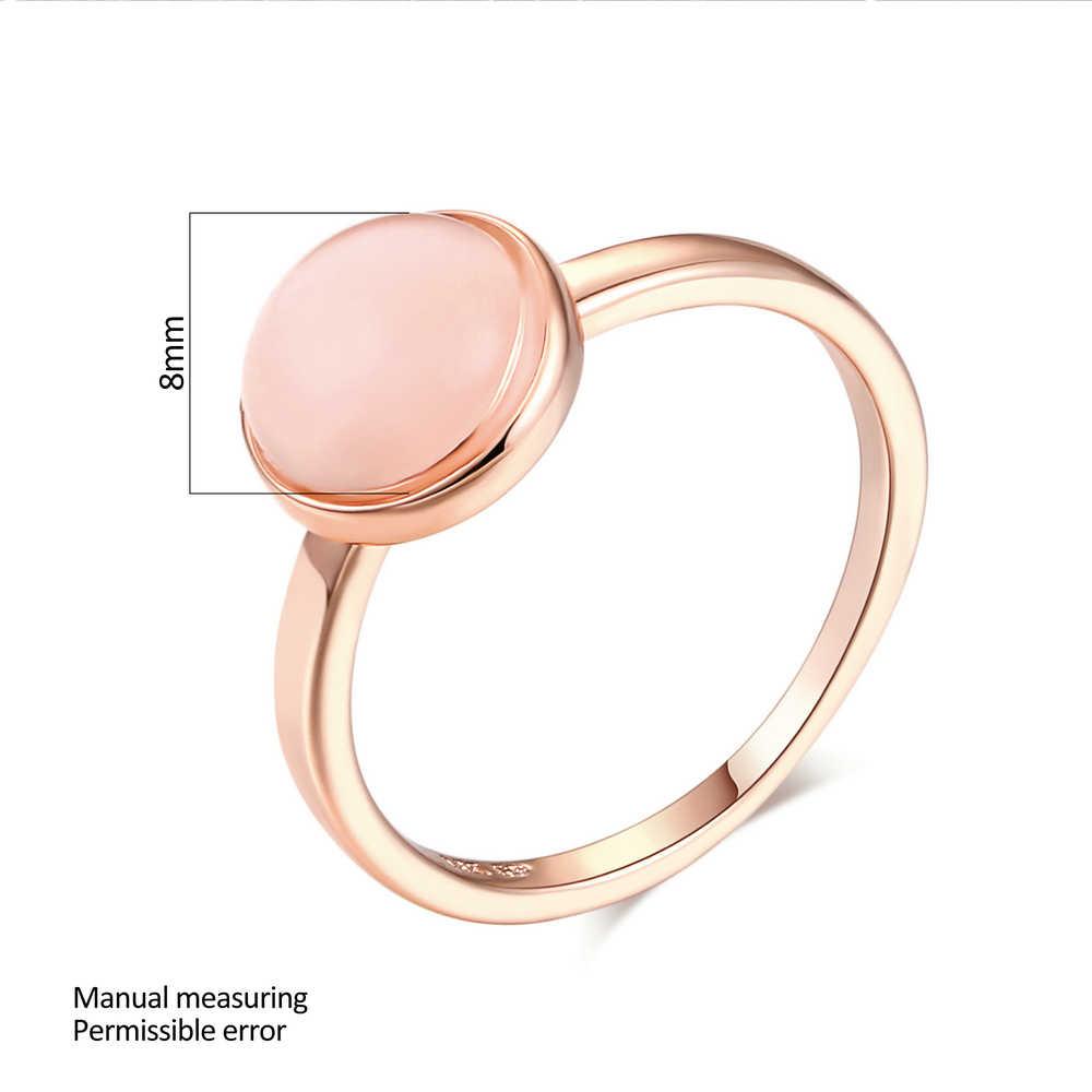 Top qualité or Rose couleur opale lune-pierre bagues marque de mode fête/bijoux de mariage pour les femmes en gros DWR153