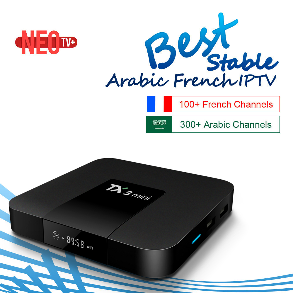 French IPTV TX3 Mini Android 7 1 Smart TV Box 2GB 16G Almlogic S905W Arabic French