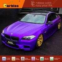 Стайлинга автомобилей Наклейки Фиолетовый атласная металлик chrome винил обертывания Графический Дизайн Быстрая доставка!