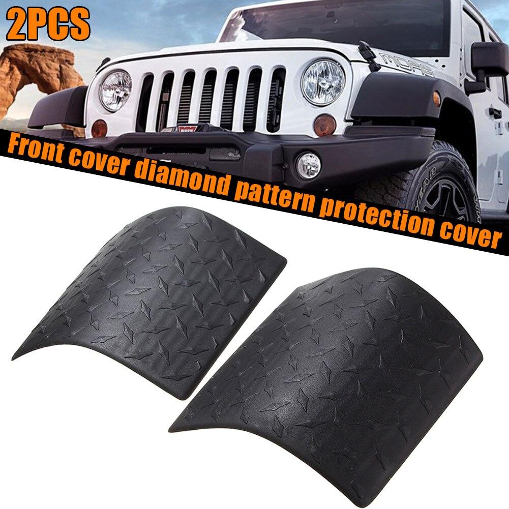 Parts Accessories Pair Cowl Body Armor Cover Diamond Plate For Jeep Wrangler Jk 07 17 Rubicon Automotive