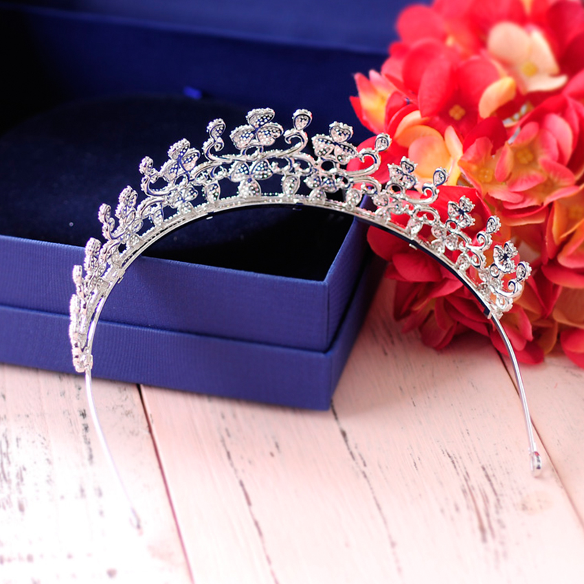 Zircon Tiara Crown Micro Paved Cubic Zirconia Headband Hair Tiaras Ornament Wedding Hair Accessories Women Fashion Jewelrys