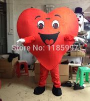 HOT SALE Popular Love Heart adult Halloween animal Mascot Costume Fancy Dress Animal mascot costume free shipping