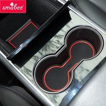Smabee Gate slot pad для Tesla модель 3 Межкомнатная дверная Накладка/нескользящая Автомобильная подстаканник коврики 7 шт.