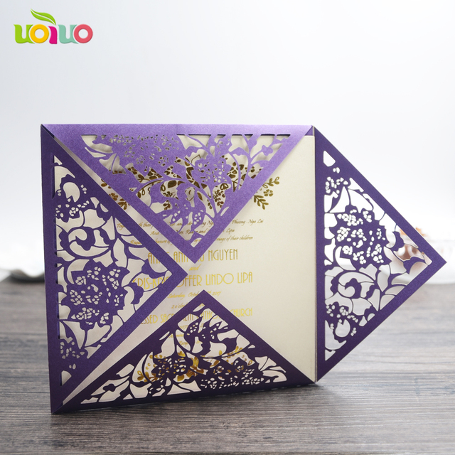 20pc Best Price Custom Hot Stamping Chinese Wedding Invitation Card