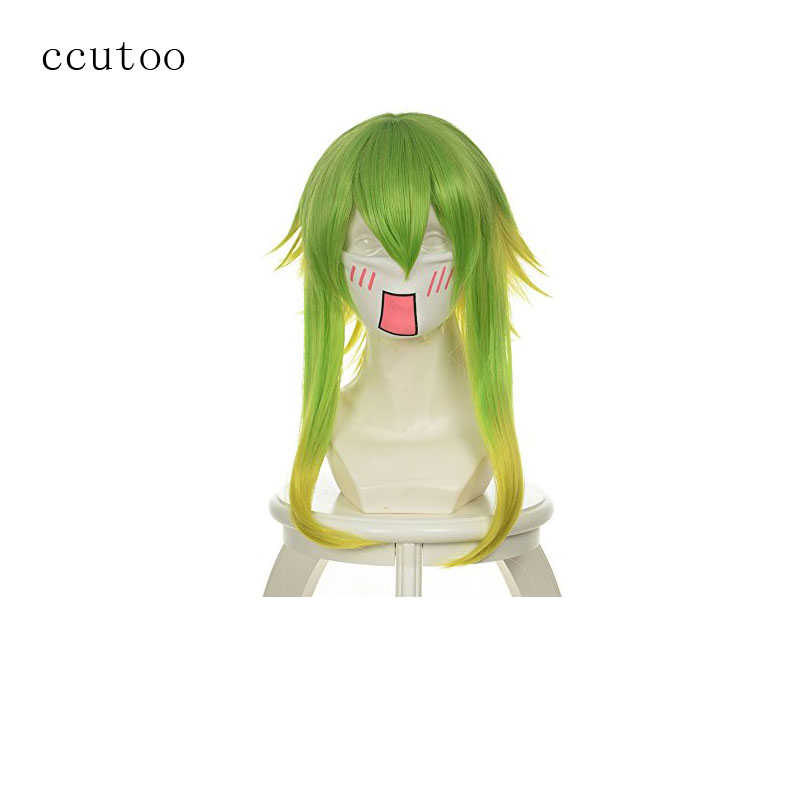 ccutoo-font-b-vocaloid-b-font-gumi-35cm-14-golden-green-ombre-short-layered-fluffy-synthetic-hair-cosplay-wigs-for-party