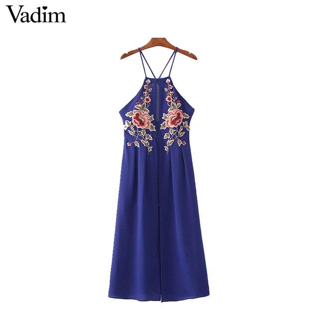 Vadim remendo floral plissada maxi dress dividir backless spaghetti strap oco out backless ocasional do tornozelo-comprimento longo vestido qz2979