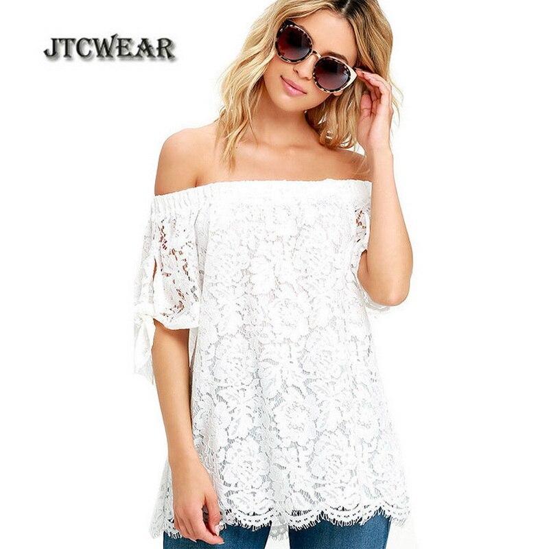 magasin discount détaillant en ligne Couleurs variées JTCWEAR Slash Cou Sans Bretelles Sexy Femme Tops Blouses ...