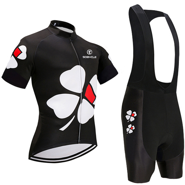 2019 Black Flower Cycling team jersey 9D Pads bike shorts Quick Dry Ropa  Ciclismo MTB bicycle clothing Mens summer cycling wear 88ae98c37