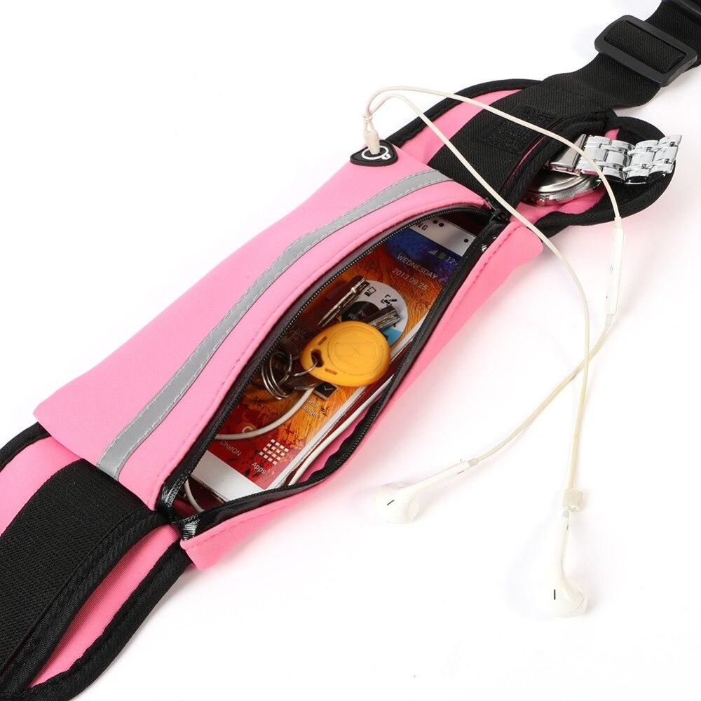 Outdoor Unisex  Sports Running Bags Men Women Waist Packs Bags Sport  Nylon Waistband For Accessory Small Travel Belt Bag