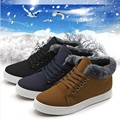 2016 Winter New Warm Boots Fashion Trend Casual  Short Boots Male Round Head Snow Boots Korean Style Non-slip Male Cotton Shoes