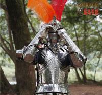 Gothic Medieval armor zbroja zbroja Rycerz movie pokaż rekwizyty kostium ze stali nierdzewnej Wojownik cosplay ubrania Ze stali Nierdzewnej