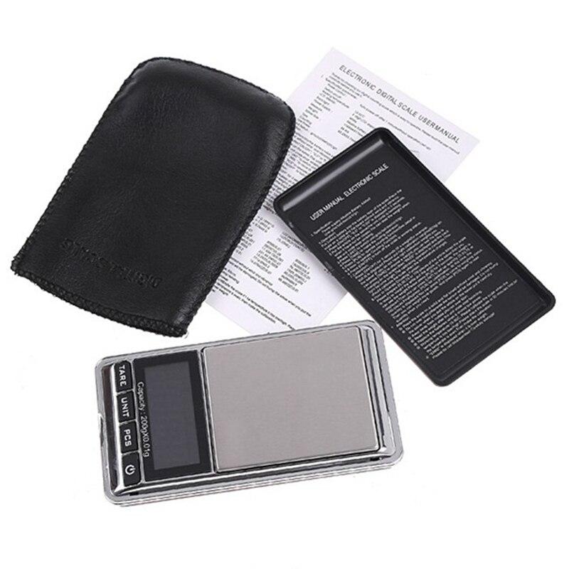 Balance de pesage de cuisine 200g 0.01 balances électroniques de bijoux de poche numériques pour gramme Carat once Balance poids 100 pcs/lot EMS - 6