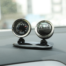 2 in 1 Compass Thermometer Car Ornaments Guide Ball Direction Dashboard Ball Auto Interior Accessories Car Decoration