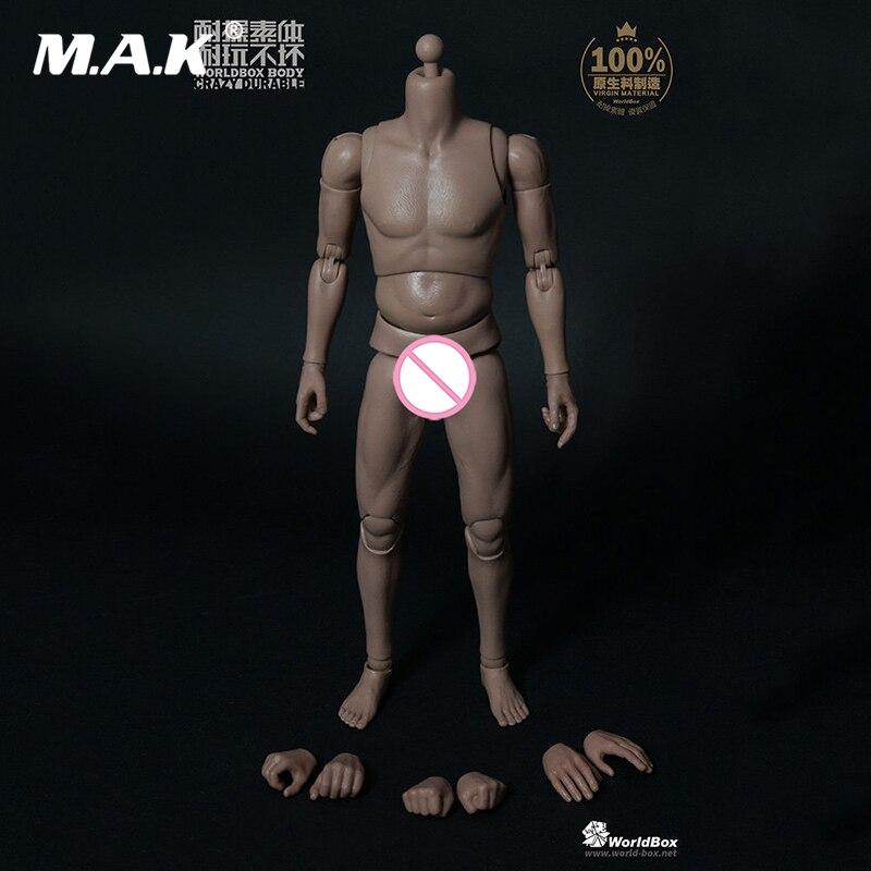 1/6 Escala Do Corpo Masculino Corpo 1/6 Pappy AT013 a Gordura da Barriga Corpo masculino Boneca Modelo Figura 12 ''Crazy man Durável corpo brinquedos