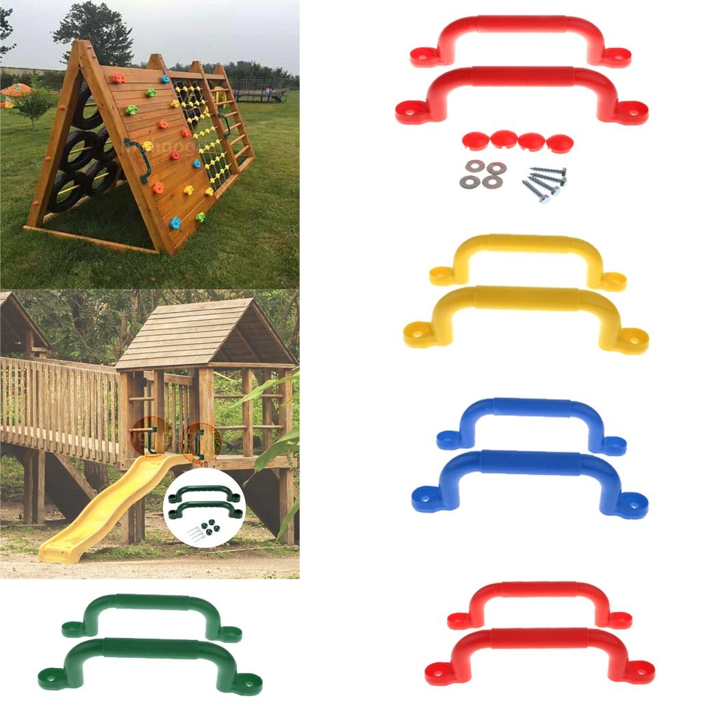 1 Pair Kids Children Playground Safety Nonslip Handle Mounting Hardware Kits Climbing Frame Swing Toy Accessories