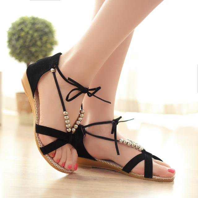 4147276420fb Brand New Hot Sales Sexy Black Women Sandals Fashion Cross strap Lady  Casual Shoes AHG58 Comfortable Wholesale