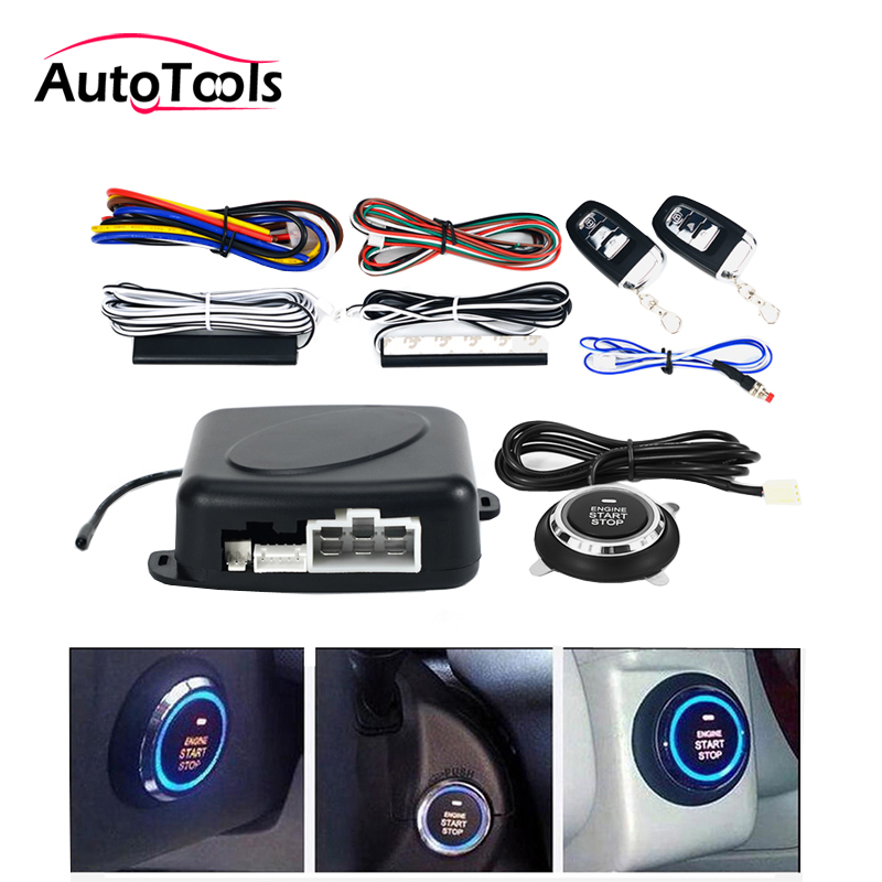 Auto car One start stop engine system with remote control Car PKE keyless entry system start