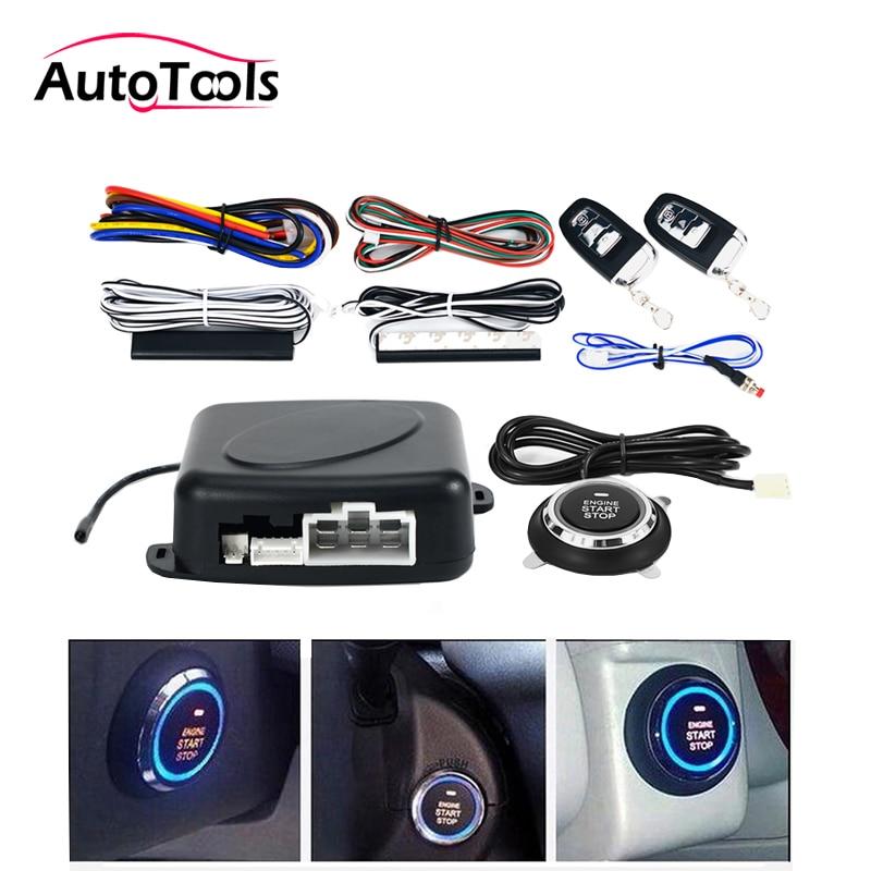 Auto voiture Un start stop moteur système avec télécommande De Voiture PKE système d'entrée sans clé start stop bouton pour 12 V SUV RFID serrure