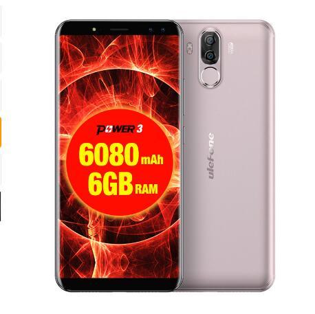 Original Ulefone Power 3 teléfonos móviles de 6,0 pulgadas 64GB ROM 6GB RAM Octa Core MTK6763 Android 7,1 de cuatro cámaras 6080mAh Smartphone - 3