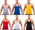 Homens De Treino de Algodão Parte Superior Do Tanque Dos Homens Musculação Longarina Encabeça Camisola de Fitness Colete Muscular Camisola Sem Mangas Racerback Topo