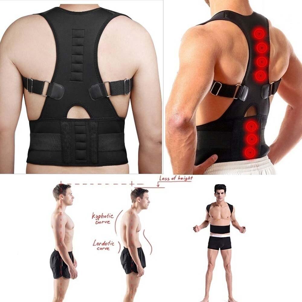 HEYME Magnetic Therapy Posture Corrector Brace Shoulder Back Support Belt Shoulder Back Spine Support Belt For Men Women