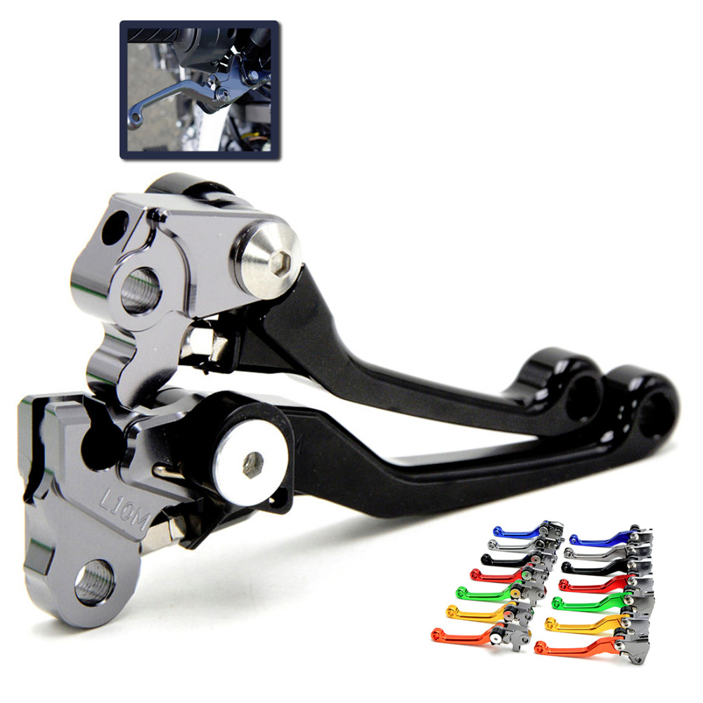 motorcycle brake lever New CNC Aluminum Pivot Clutch Brake Lever For SUZUKI DRZ 400S/SM 2000-2014, DR 250R 1997-2000 1998 1999 cnc pivot brake clutch lever for kawasaki kx65 kx85 kx125 kx250 kx250f new