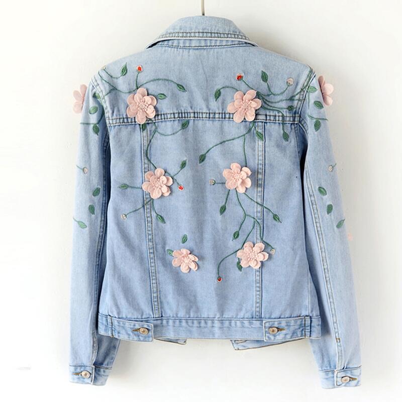 Short Jacket Clothing Blue New Spring Autumn Coats navy Outerwear Long Denim sleeved 2019 Slim Jackets Blue Women And Coat Female Sky ava4O