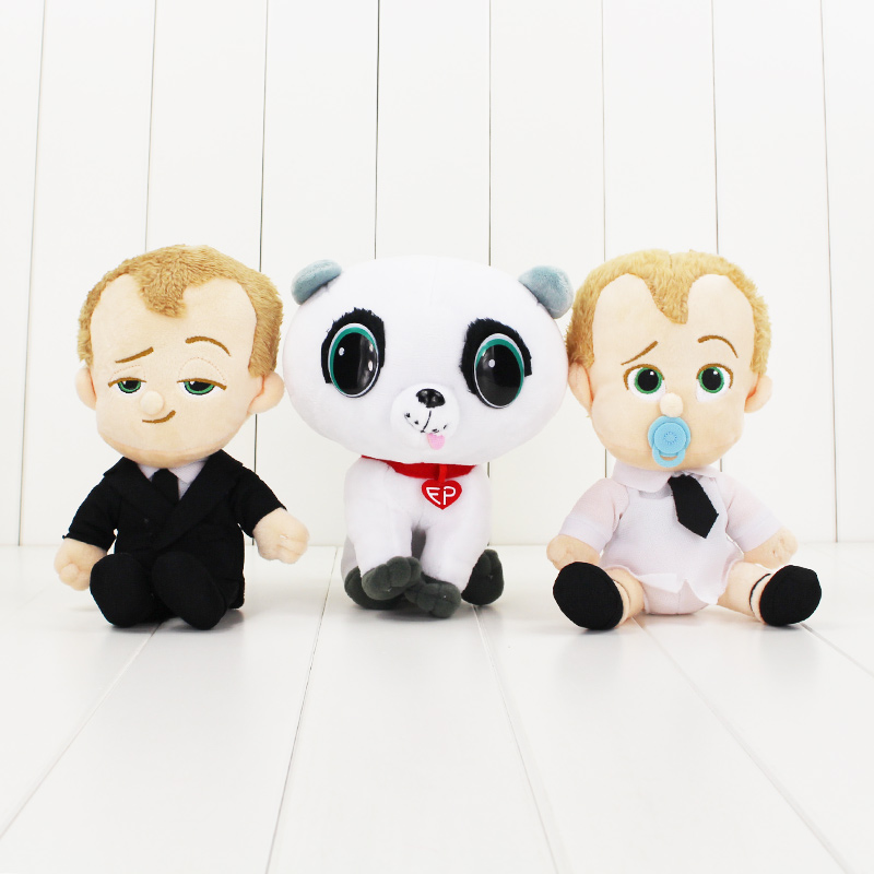 3pcs/lot 18cm The Boss Baby Plush cartoon Doll toys cute dog dolls kawaii new movie toy soft stuffed doll toy good gift for kids 68cm kawaii bull terrier dog plush kids toy emoji sleeping pillow toy cute soft baby toys stuffed dolls for children girl gifts
