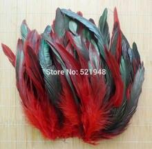 50 pçs cor vermelha fofo moda faisão galo penas 12.5-20cm franja plumagem casa festa decoração diy