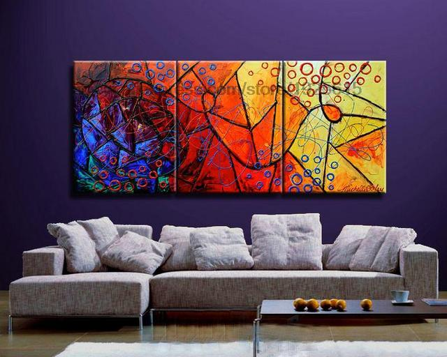 oil painting on canvas decorative acrylic wall panels 3 panel 3 pcs