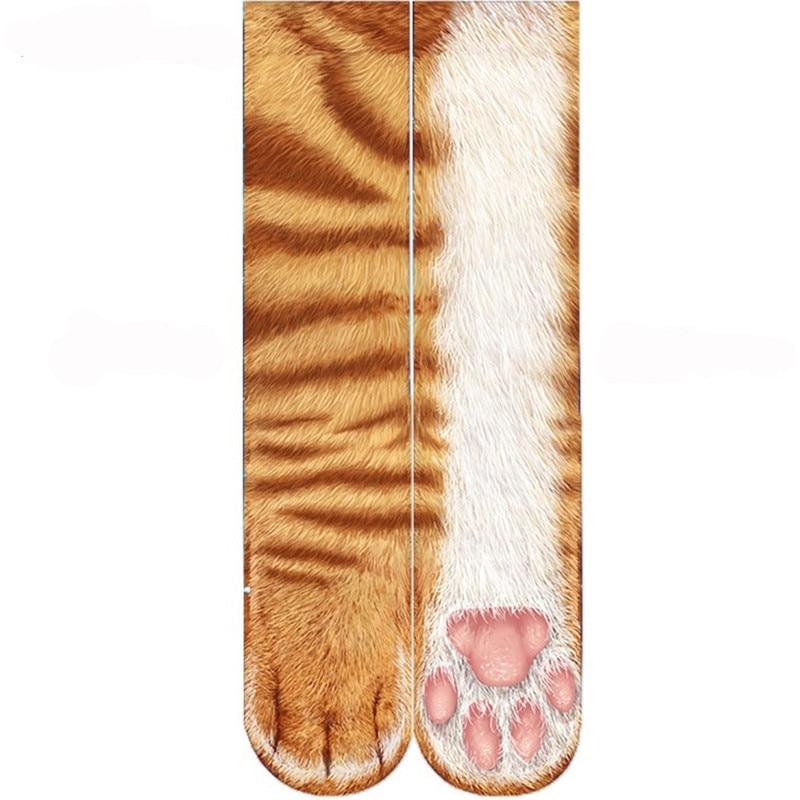 Sexemara New Style Adult Unisex Animal Paw Crew Socks Sublimated Print Men & Women Socks Funny Elastic Breathable Sock 5QRVB103