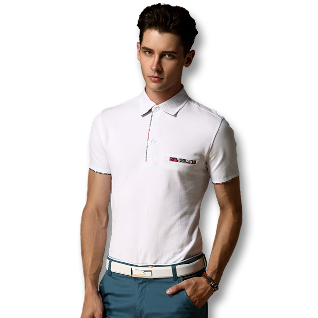 Men Fashion Polo Shirts 2016 Slim Fits Cotton Men Polo Shirts Short Sleeves Plus Size 3XL Casual Men Polo Shirts Free Shipping
