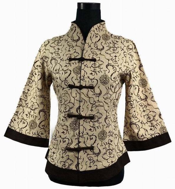 Весна Новый 100% Хлопок Китайский Стиль женской Тан Костюм Куртка Традиционный Ручной Кнопки Пальто Плюс Размер S, Чтобы 5XL 2218