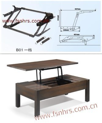 lift up coffee table mechanism b01 on. Black Bedroom Furniture Sets. Home Design Ideas