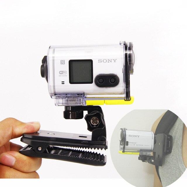 Pour gopro4 Sac clip Sac À Dos Montage Pour Sony Action Cam HDR AS20 AS15 AS100V AS30V AZ1 AS200V FDR-X1000V aee Adaptateur