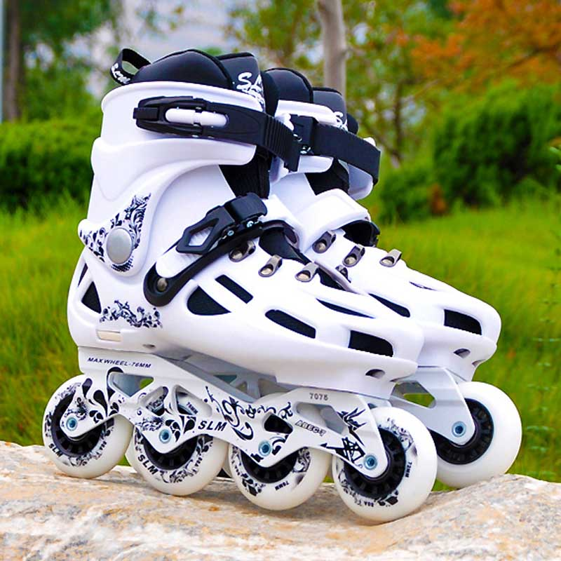 SLM C6 Inline Skates Slalom Adult's Roller Skating Shoes 88A 4 Wheels For Sliding Street Free Skating Patines Adulto SEBA Patins adults men women s roller skates black white inline skating shoes roller patins eu size 36 43