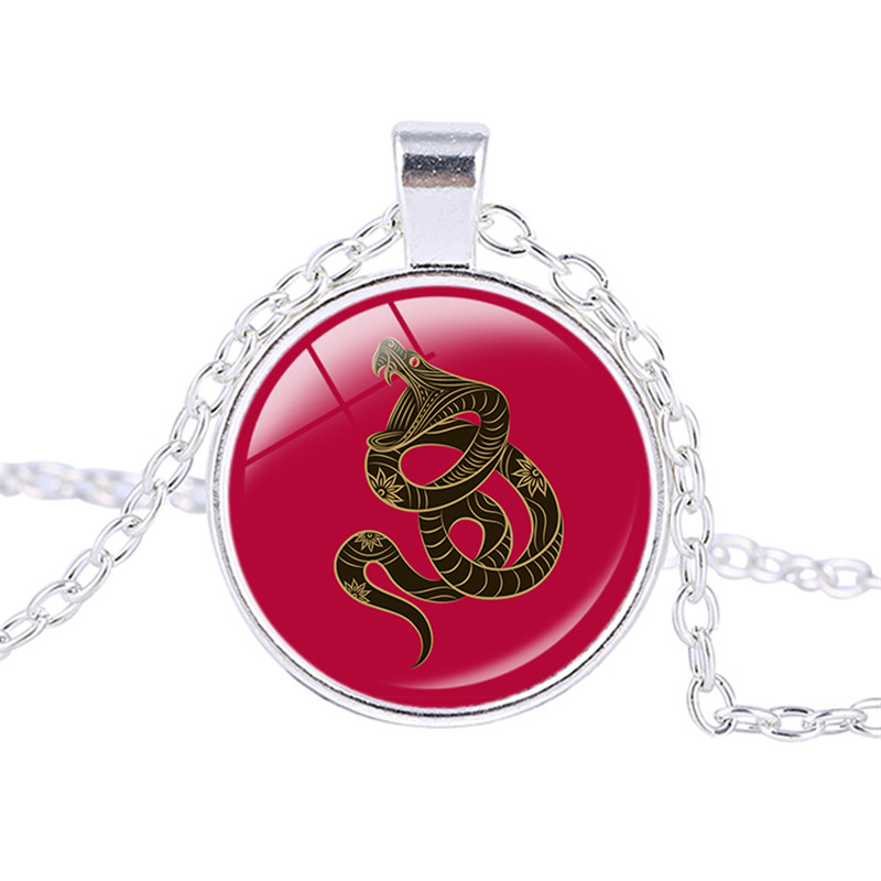 12 Chinese Zodiac Sign Pendant Necklace Dragon Jewelry Birthday Month Gift