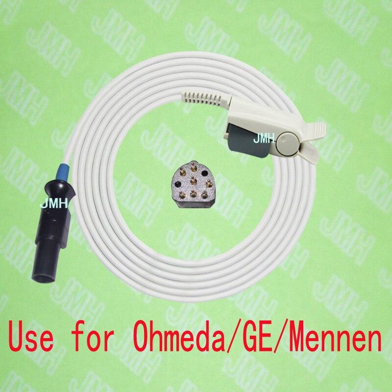 Compatible with Ohmeda GE Mennen Pulse Oximeter monitor   Adult finger clip spo2 sensor.7pin Nellcor clip.|sensor lambda - title=