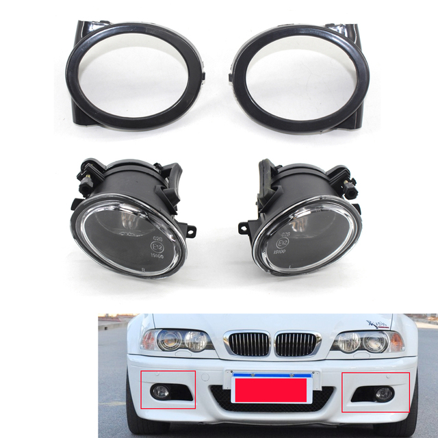 Us 55 98 Fit For 01 06 Bmw E46 M3 Front Bumper Fog Lights No Bulbs W Covers In Car Light Assembly From Automobiles Motorcycles On Aliexpress Com