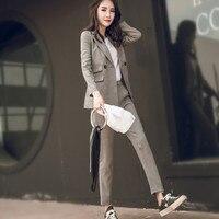New Female Elegant Pant OL Formal Work Wear Women S Long Sleeve Blazer With Trousers Office