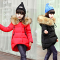 Fashion Girl down Jackets Coats for Winter warm 2016 baby girl thick duck Down jacket real fur Children Outerwears cold winter
