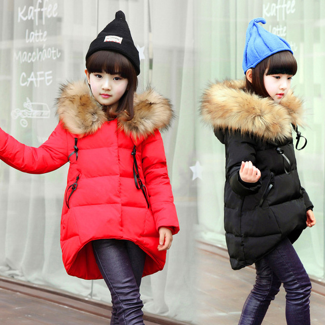 798e38f49f8e Fashion Girl down Jackets Coats for Winter warm 2018 baby girl thick ...