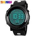 2016 Relogio masculino dos homens Marca SKMEI LEVARAM Relógio Digital de Esporte Homem de Mergulho 50 M Relógio Multifunction Men PU Strap Relógios desportivos