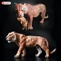 Animales salvajes Tigre De Plástico Figuras de Acción Modelo Estático Juguete de Aprendizaje Juguetes Educativos para Niños de Regalo
