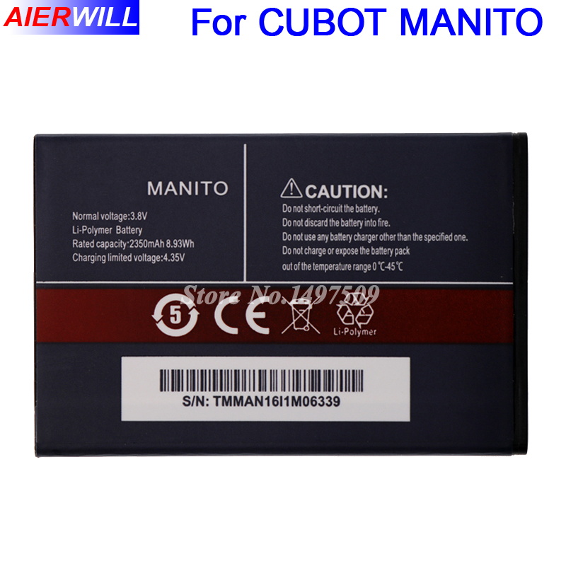 Per CUBOT MANITO Batteria Batterie Bateria Batterij Accumulator 2350 mAh