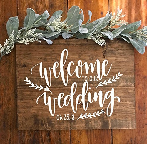 Welcome To Our Wedding Wood Personalized Wedding Welcome Sign Rustic Wedding Entrance Sign Party Direction Signs Aliexpress